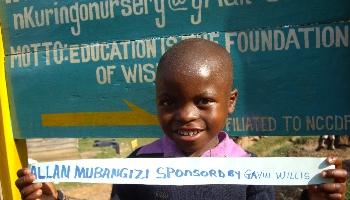Alan at Nkuringo Infant & Primary School