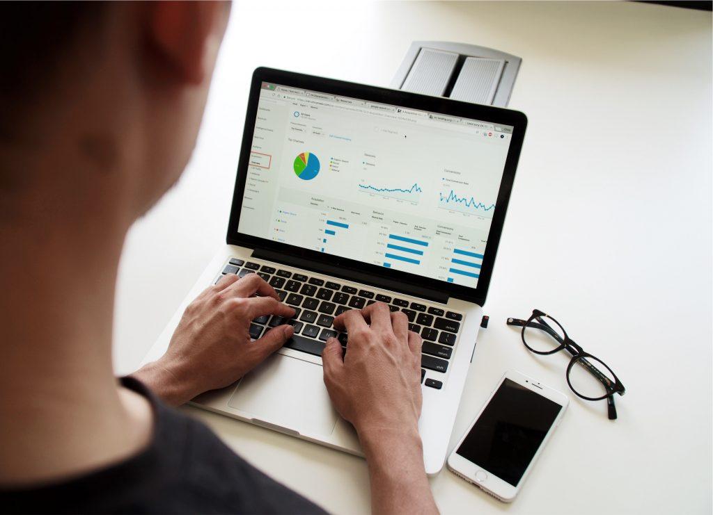 Person Using Google Analytics