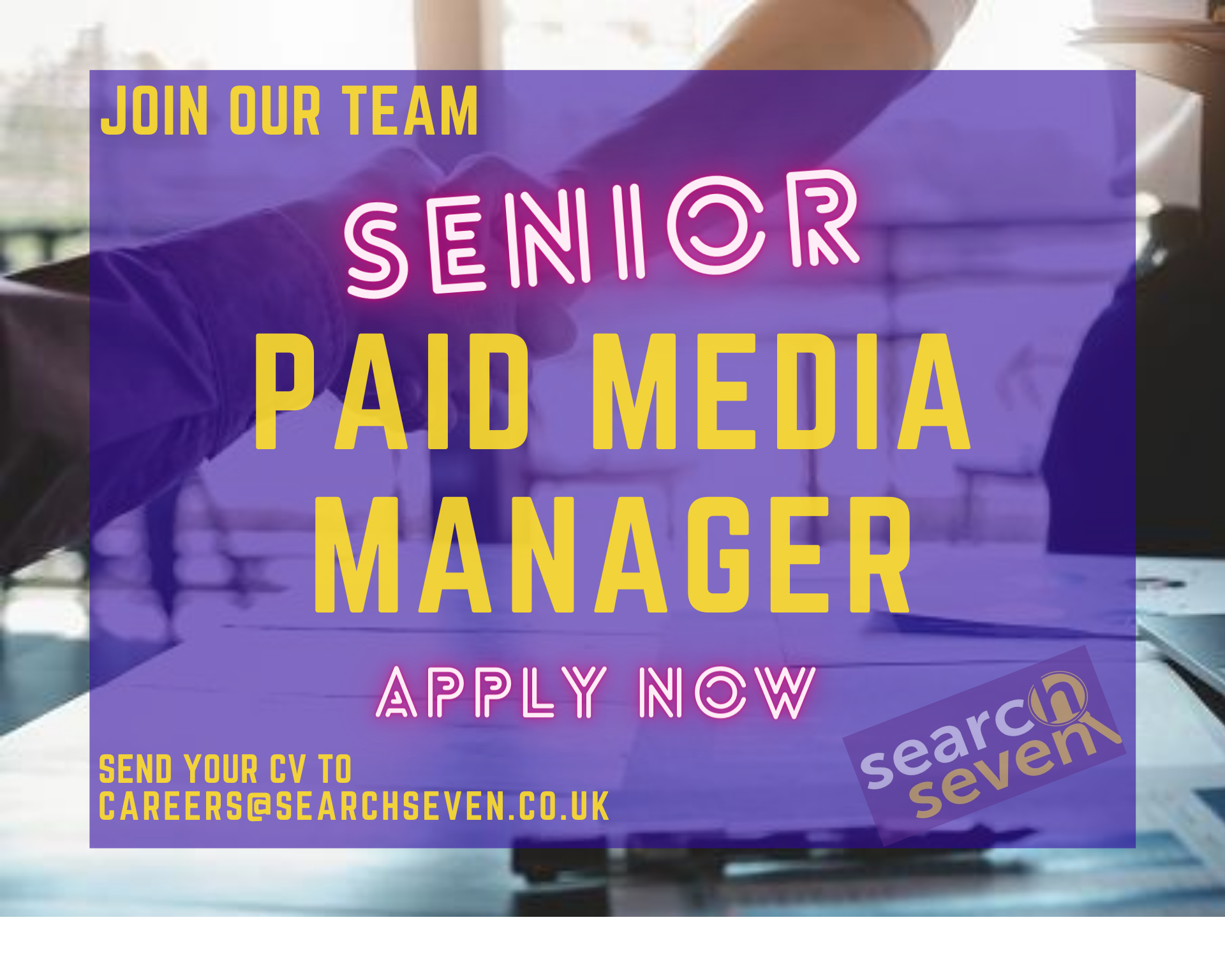 senior paid media manager vacancy at search seven brighton